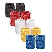 独特运动多色装运动腕带适用于篮球联盟5对腕带每包