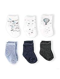 Aden + Anais 0-6 个月热气球男孩婴儿袜 - 6 双装