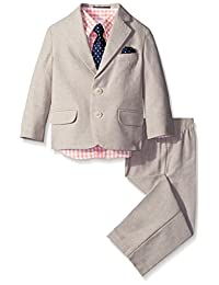Nautica Little Boys' Tan Txtrd Suit Set