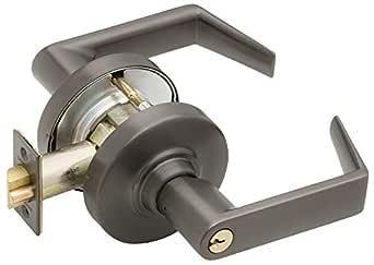 Schlage ND75PD RHO 613 C123 钥匙扣系列 ND1级圆柱锁,教室*功能,C123钥匙扣,Rhodes 设计,油面青铜饰面