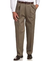 Haggar 男式 work-to-weekend 免烫褶皱长裤隐藏式可扩展腰部