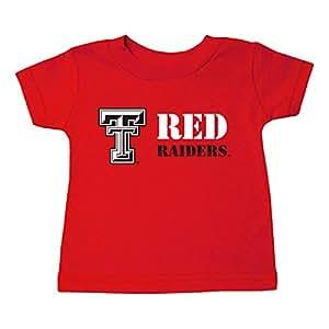 Two Feet Ahead NCAA Texas Tech Red Raiders 儿童中性款短袖 T 恤,3,红色