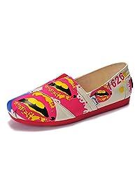 Unbeaten 个性时尚潮流 经典优雅 韩版懒人鞋 平底鞋 帆布鞋 个性靓丽 单鞋 布鞋 流行轻便 女鞋