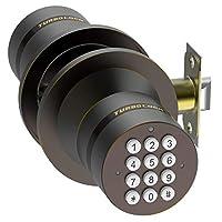 Advanced Security TurboLock Keyless Smart Lock - with Automatic Locking, Battery Backup & Easy Installation (No Bluetooth, Bronze)