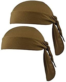 SUNLAND Bandanna 帽骑行头巾骷髅帽围巾摩托车运动海盗围巾帽子头盔衬垫适用于自行车 可调节紫外线防护