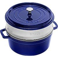 STAUB 珐宝 蒸锅 圆形26厘米深蓝色