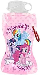 Vandor 42010 My Little Pony 12 oz Collapsible Water Bottle, Pink