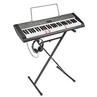 Casio 卡西欧 LK-136AD Keylighting 61 键键盘带卡西欧键盘支架和耳机