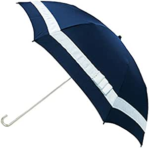 粉色棒 折叠伞 雨晴两用 珍珠色丝带 8根骨 藏青色 使用時サイズ(全長×直径):約36cm×約82cm/収納時サイズ(全長×直径):約36cm×約8cm -