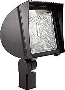 RAB Lighting FXH70SFQT/PC Flexflood 70W MH QT HPF 滑轮 120V PC,青铜色