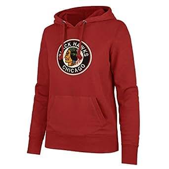 NHL 女式芝加哥黑鹰队 OTS 羊毛连帽衫,S 码,徽标