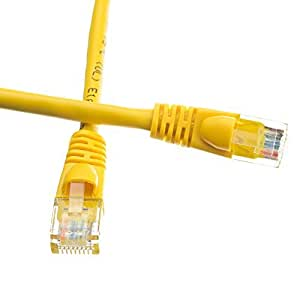 eDragon 20 英尺 Cat5e 黄色以太网接插线,Snagless/模制靴子ED694029 3 件装