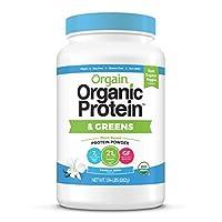 Orgain - 蛋白和混合粉末香草豆 - 1.94磅