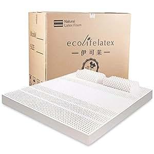 ECOLIFELATEX 伊可莱泰国进口七区乳胶床垫 7.5cm*180cm*200cm[赠品乳胶枕头 平滑低款PT3CS*2]