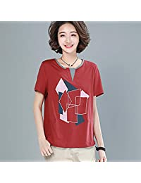 Fanru 梵如 女式 T恤女夏季新款宽松女士休闲衬衫女上衣短袖T恤女 F286-HTX1