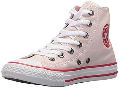 Converse Kids Chuck Taylor All Star Hi Barley Rose/Enamel Red/White Basketball Shoe 1 Kids US