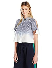 Milly Women's Tie Sleeve Button up