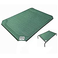 Coolaroo Elevated Pet Bed Replacement Cover, Green 绿色 中