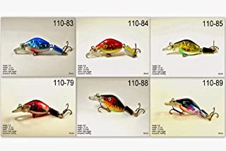 Akuna Pack of 6 Wobbler Series 2.6 inch Sinking Jointed Fishing Lure