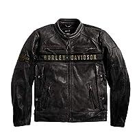 Harley-Davidson 男式 Passing Link 三开衩夹克(黑色)