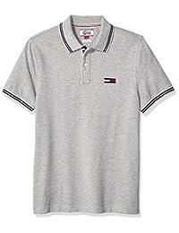 Tommy Hilfiger 汤米·希尔费格牛仔男式定制大徽标 Polo 衫
