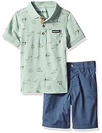 Timberland 添柏岚男孩 2 件套 Polo 短裤套装