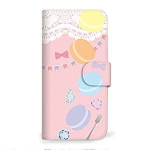 MITAS 智能手机保护壳翻盖型马卡龙色插图可爱  粉色 1_iPhoneSE (iPhoneSE)