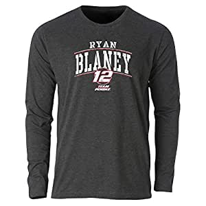 Ouray Sportswear NASCAR Penske Racing Ryan Blaney 男士三色混纺 L/S TTri 混纺 L/S T,复古黑色,L 码