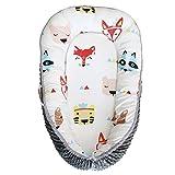 """Abreeze 婴儿床摇篮 - 蓝色云婴儿躺椅 - 透气防*共眠婴儿床 - * 纯棉便携式婴儿床 适用于卧室/旅行 款式 01 L31.5""""xW19.6"""""""