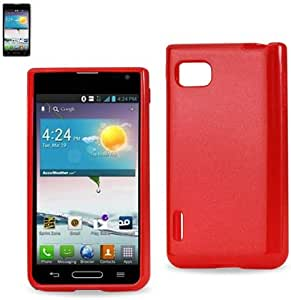 Reiko Polymer TPU Case for LG Optimus F3 - Non-Retail Packaging - Red