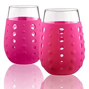 Artland 425 毫升。 Hydra Sip 饮用玻璃杯 - 2 件套 紫红色(Berry) 小号 42061