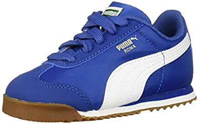 PUMA 儿童 Roma Basic 运动鞋 Galaxy Blue-puma White 8 幼童