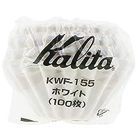 Kalita 咖啡过滤器 wave波浪系列 1~2人用 白色 100张 KWF-155# 22213