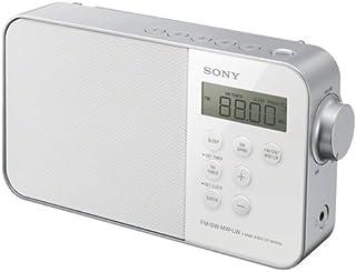 Sony 索尼 ICF-M780便携式电子时钟收音机(UKW/KW/MW/LW调谐器、LED灯、闹铃功能、电源或电池供电)白色