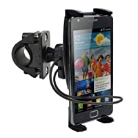 手机自行车支架,DigiMo 手机支架,适用于 Galaxy S10/S10 Plus S10E S9 S8 w/Swivel 支架和*橡皮筋带