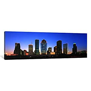 "iCanvasART USA, Texas, Houston Canvas Print by Panoramic Images, 48"" x 16""/1.5"" Deep"