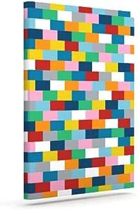 """Kess InHouse Project M""""Bricks"""" 户外帆布墙壁艺术 20"""" x 24"""" PM1021AAC04"""