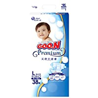 GOO.N大王 婴儿纸尿裤 Premium L(9~14kg)38片