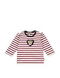 Steiff 女婴带甜美泰迪熊装饰T恤长袖