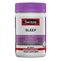 Swisse Ultiboost Sleep 补充剂 | 草本辅助剂 | 镁,缬草根,甘草 | 120片