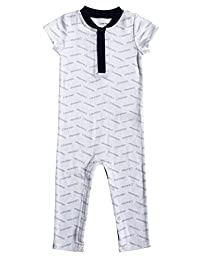 Calvin Klein 婴儿男孩短袖连衣裤