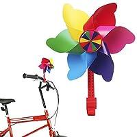 儿童自行车车把花风车,迷你工厂旋转风车装饰,儿童自行车 - 易扣合 彩虹色 43224-1556