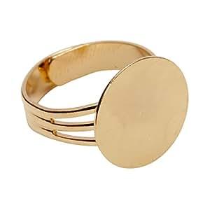 可调式戒指空白 金色 CMS8157