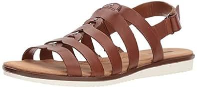 Clarks Kele Jasmine 女士凉鞋 皮革棕色 5 M US