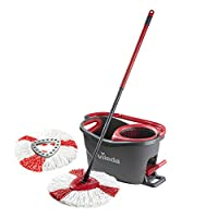 Vileda Easy Wring and Clean Turbo Microfibre Mop and Bucket Set with Extra 2 in 1 Refill