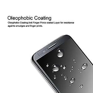 YIIUE Moto G5 Plus 屏幕保护膜,*五代,钢化玻璃,屏幕保护膜,防划伤,防指纹,无气泡