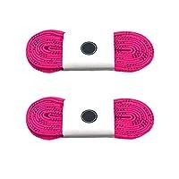 Silfrae 打蜡滑冰曲棍球鞋带两对出售,重型完美适合曲棍球和冰鞋、靴子,多尺码多色可选。 72'' 粉红色