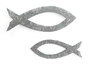 Petra's Craft News A KFF3350 87 切割鱼 50 件套装 2 种尺寸 - 毛毡 Graumeliert