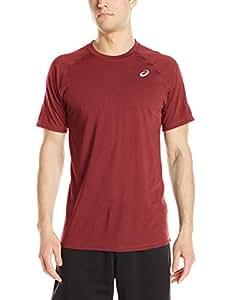 ASICS 男士团队必备 T 恤 鲜红色 大