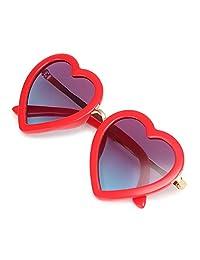 心形太阳镜偏光紫外线防护儿童太阳镜复古适合幼儿女孩